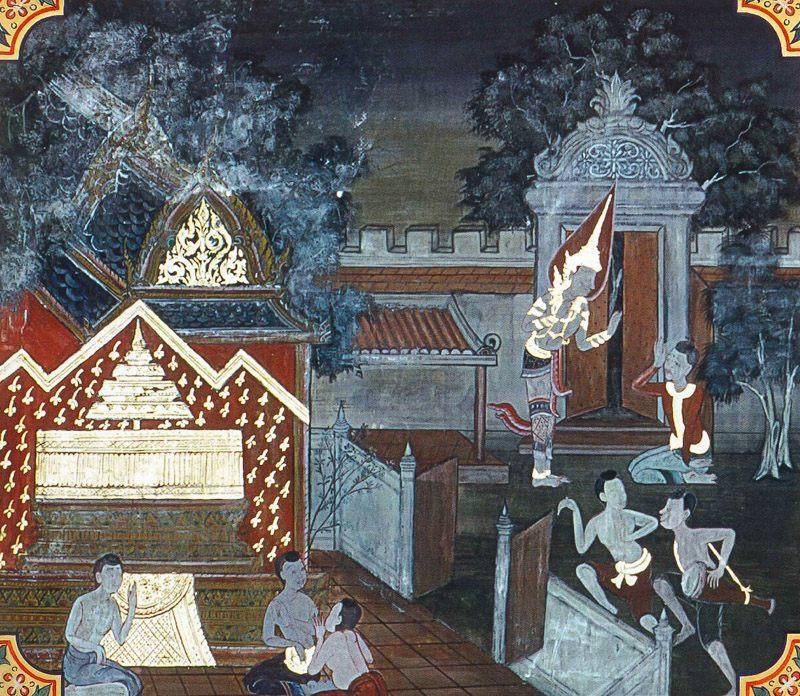 temple painting of Mahapingala Jataka