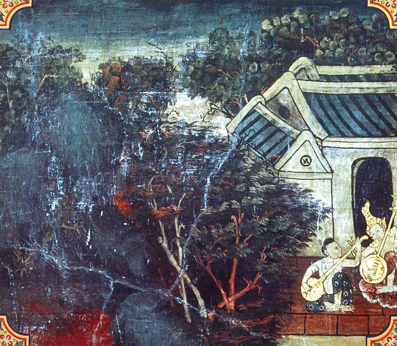 temple painting of Guttila Jataka
