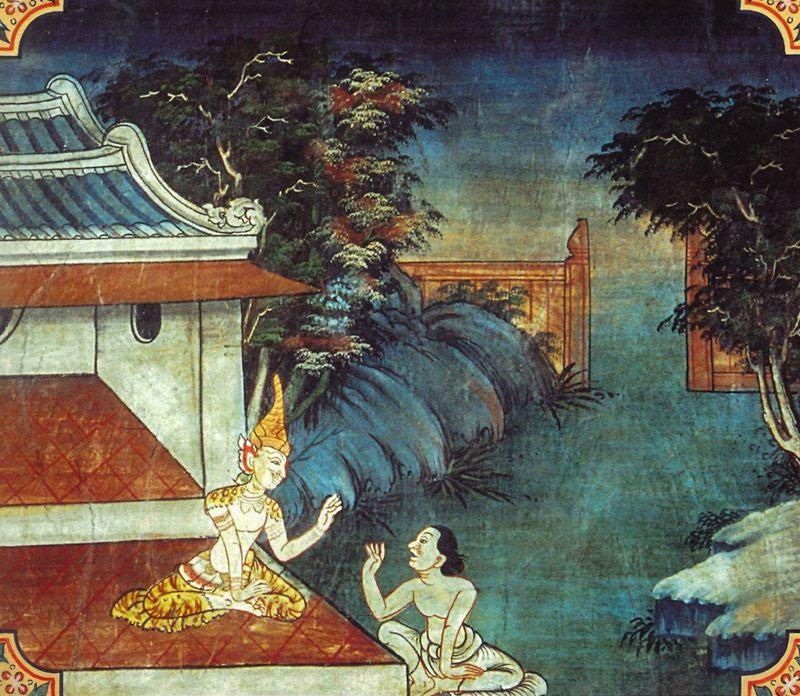 temple painting of Viticcha Jataka
