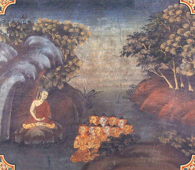 temple painting of Mula-Pariyaya Jataka