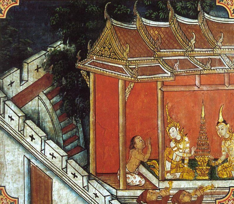 temple painting of Padanjali Jataka