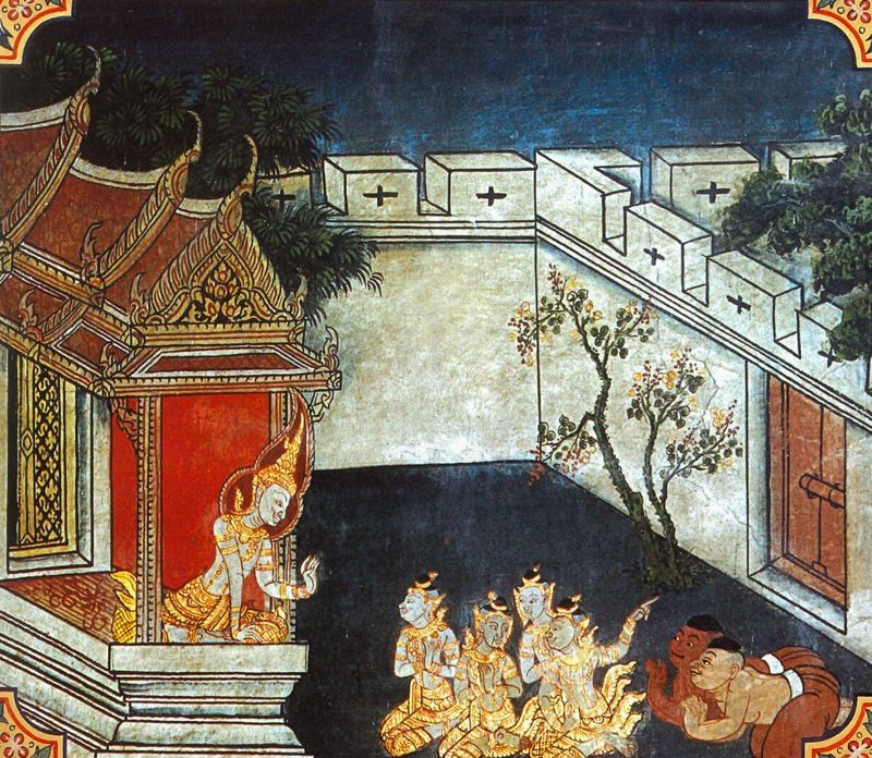 temple painting of Kimsukopama Jataka