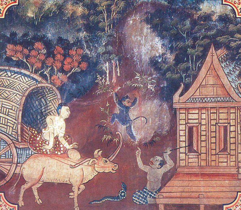 temple painting of Salaka Jataka