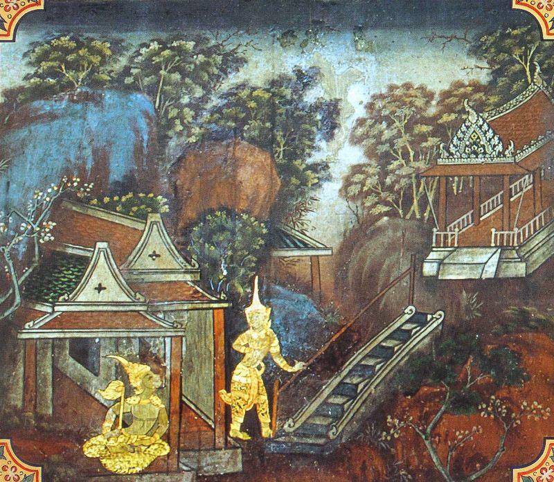 temple painting of Samkappa Jataka