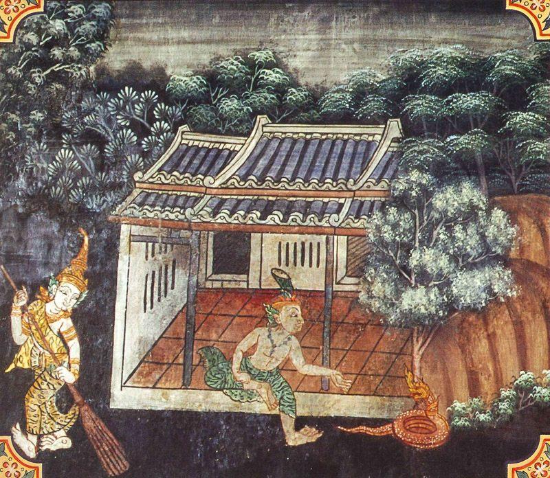 temple painting of Mani-Kantha Jataka