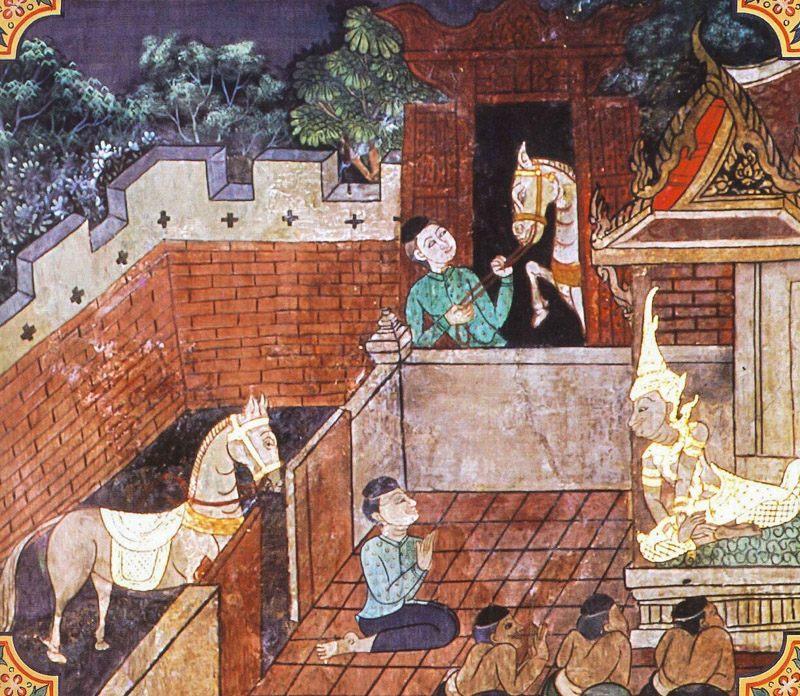 temple painting of Kundaka-Kucchi-Sindhava Jataka