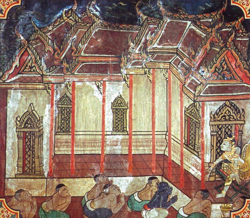 temple painting of Gamani-Canda Jataka