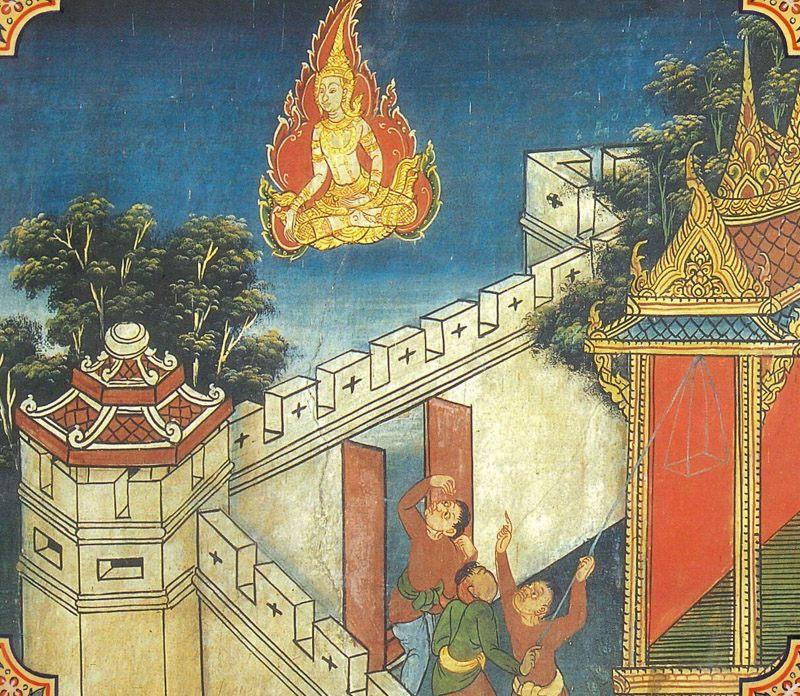 temple painting of Mandhatu Jataka