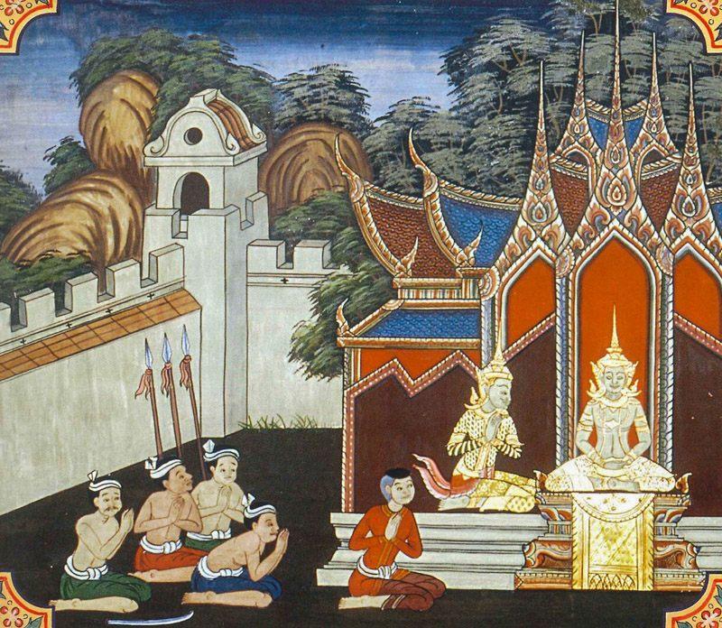 temple painting of Duta Jataka