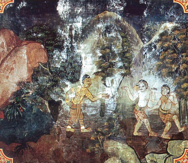 temple painting of Paduma Jataka
