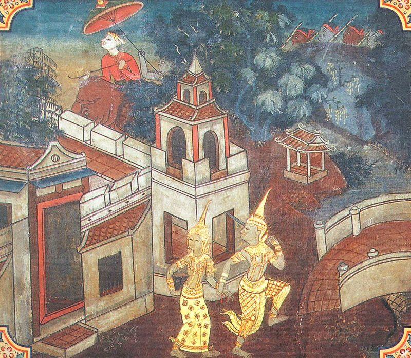 temple painting of Mudu-Pani Jataka
