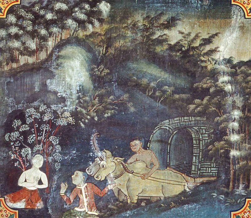 temple painting of Khurappa Jataka
