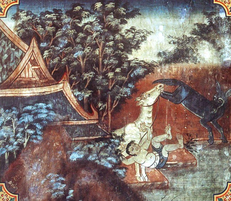 temple painting of Vatagga-Sindhava Jataka