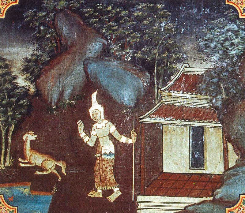 temple painting of Udapana-Dusaka Jataka