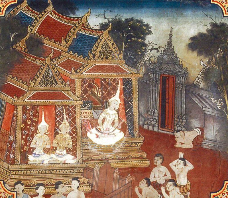 temple painting of Kurudhamma Jataka
