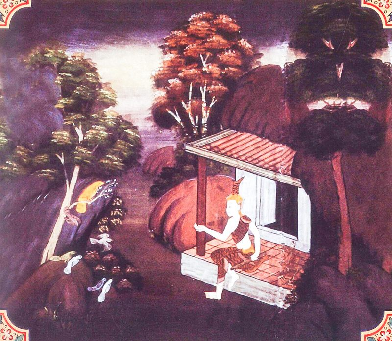 temple painting of Romaka Jataka