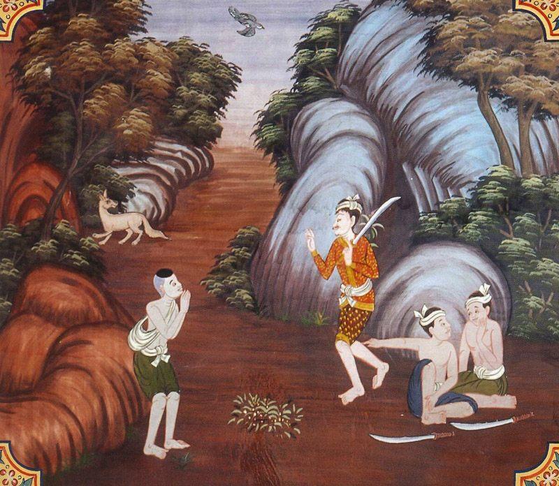 temple painting of Satapatta Jataka