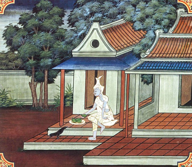 temple painting of Abbhantara Jataka