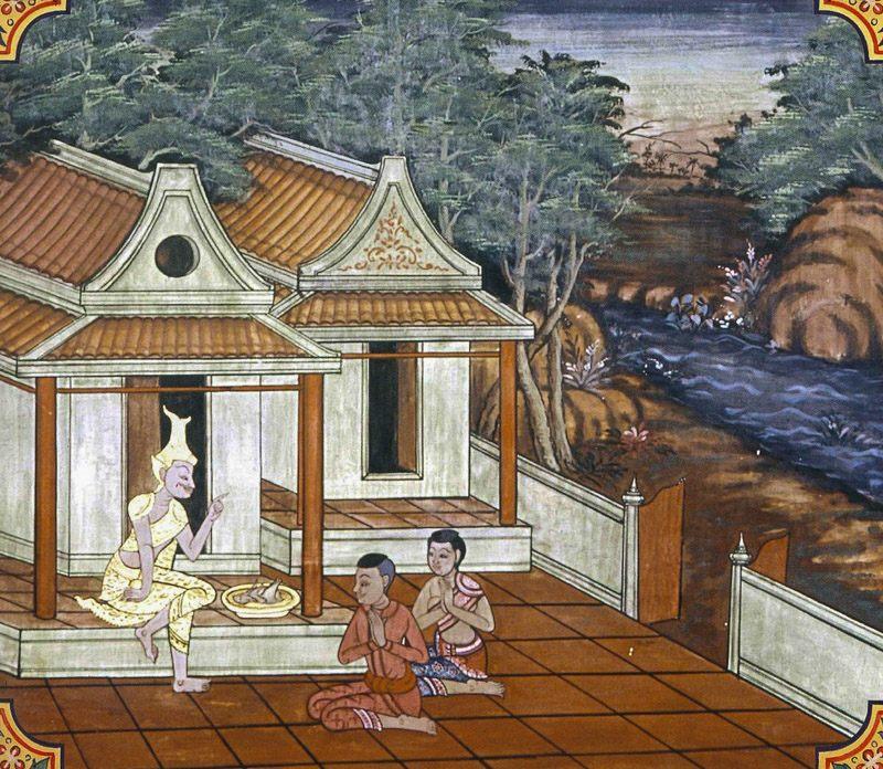 temple painting of Siri Jataka