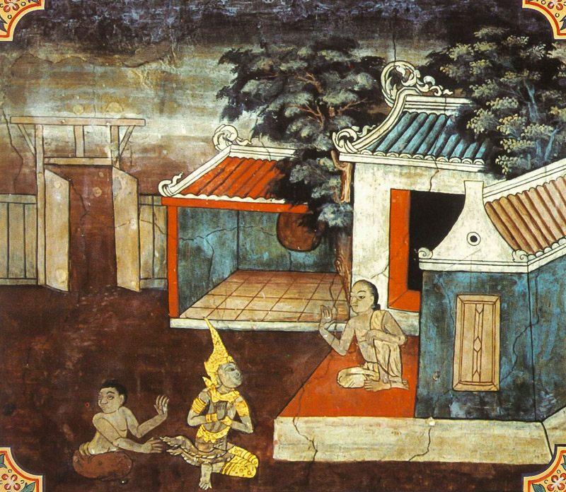temple painting of Macch-Uddana Jataka