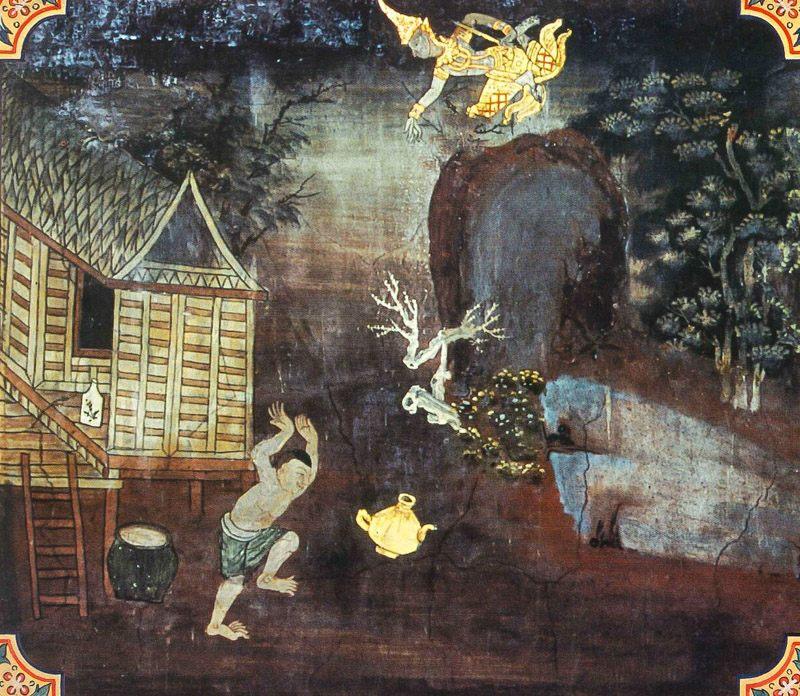 temple painting of Bhadra-Ghata Jataka