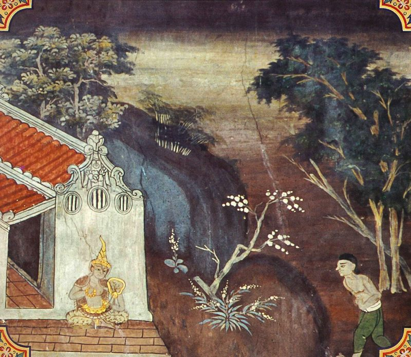 temple painting of Kaya-Vicchinda Jataka