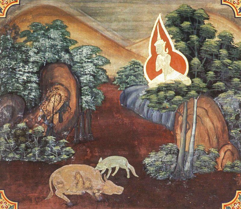 temple painting of Anta Jataka