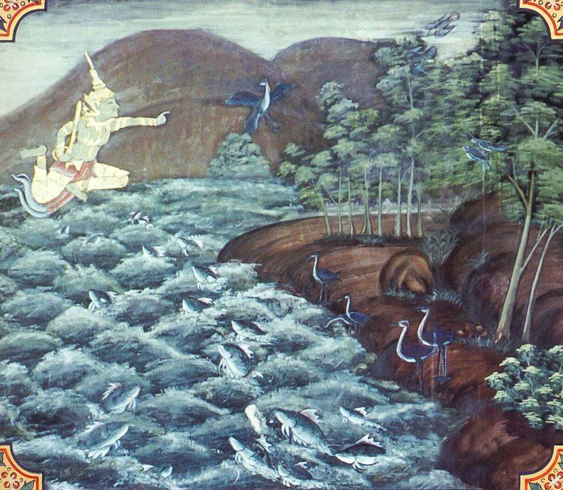 temple painting of Samudda Jataka