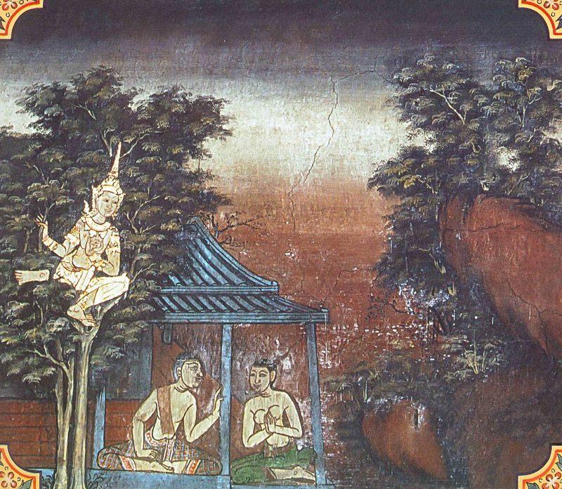 temple painting of Kama-Vilapa Jataka
