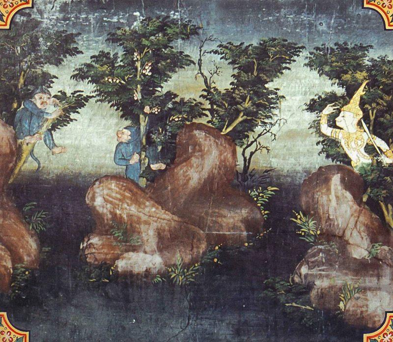 temple painting of Udumbara Jataka