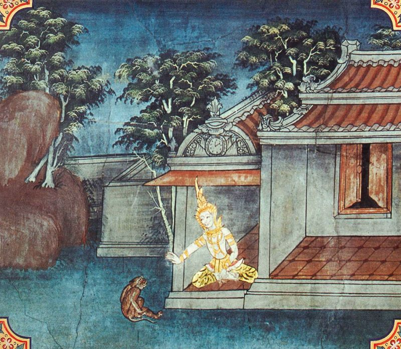 temple painting of Komaya-Putta Jataka