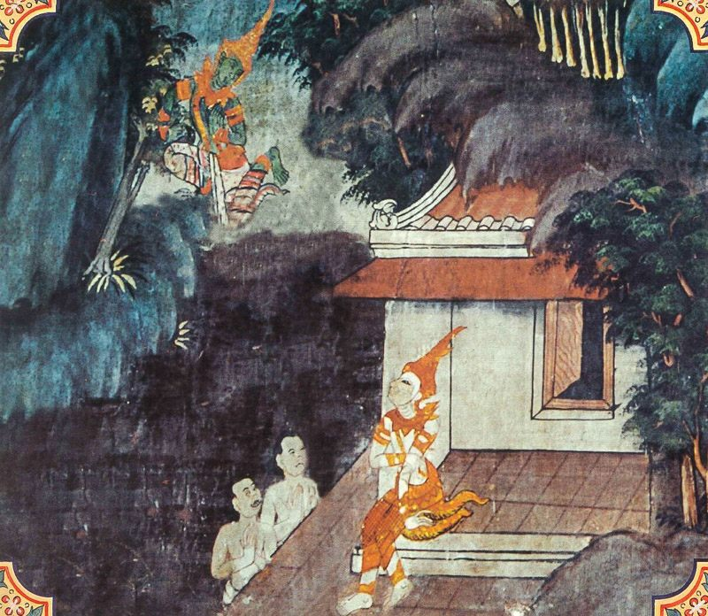 temple painting of Cullakalinga Jataka