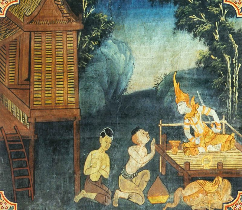 temple painting of Mahaassaroha Jataka