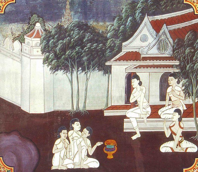 temple painting of Silavimamsana Jataka