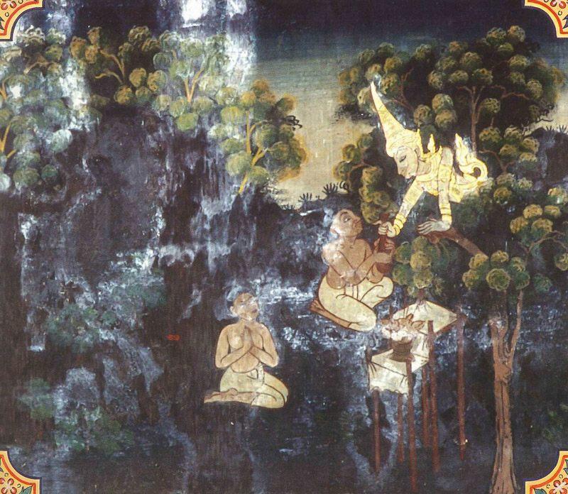 temple painting of Palasa Jataka