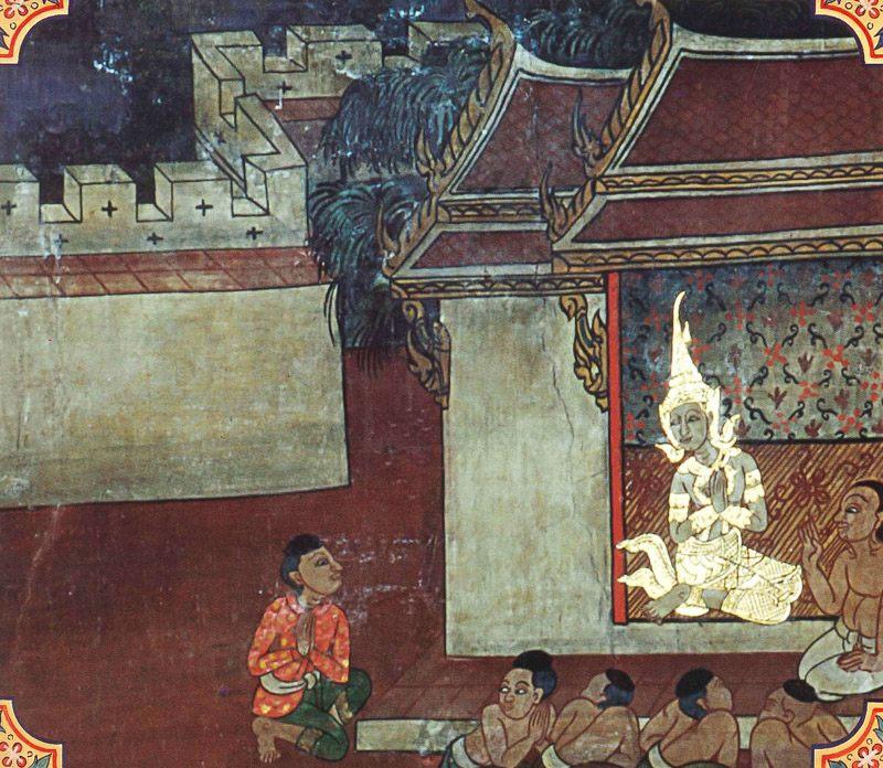 temple painting of Chavaka Jataka