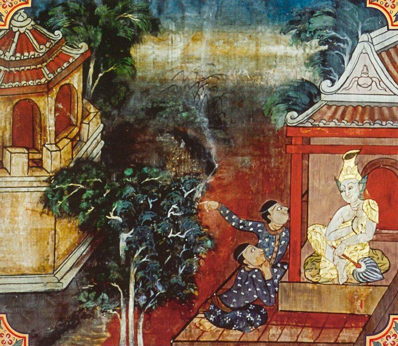 temple painting of Sayha Jataka