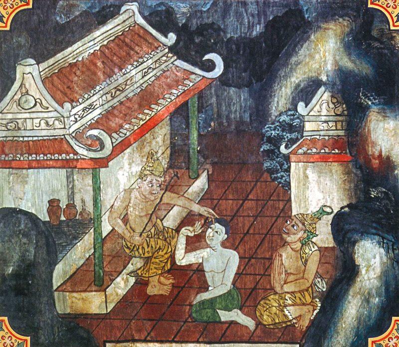 temple painting of Kassapamandiya Jataka