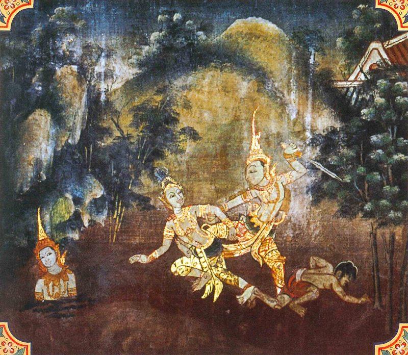 temple painting of Khantivadi Jataka