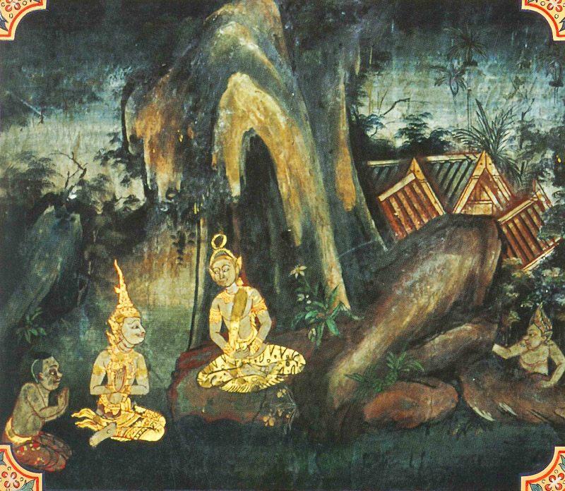 temple painting of Lohakumbhi Jataka