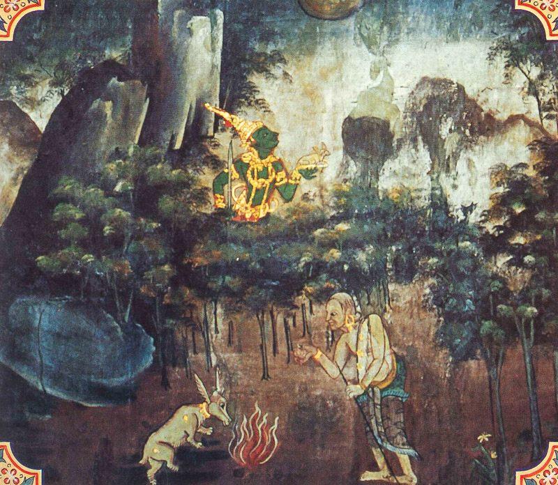 temple painting of Sasa Jataka