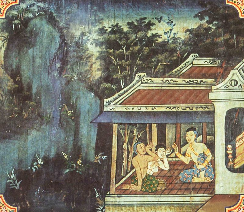 temple painting of Matarodana Jataka