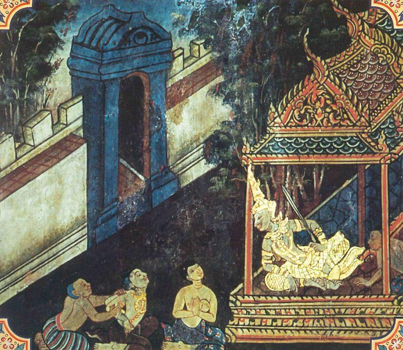 temple painting of Kanavera Jataka