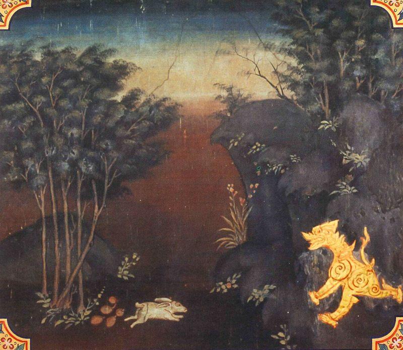temple painting of Daddabha Jataka