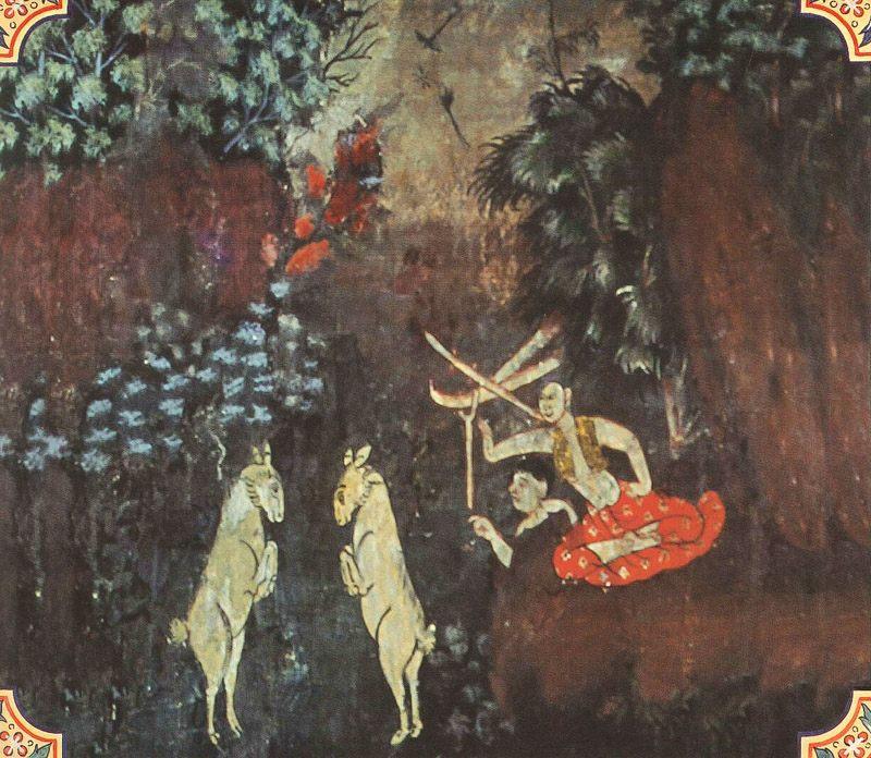 temple painting of Cammasataka Jataka