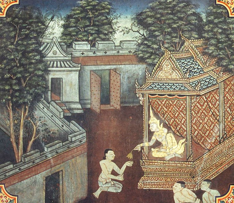 temple painting of Kakkaru Jataka
