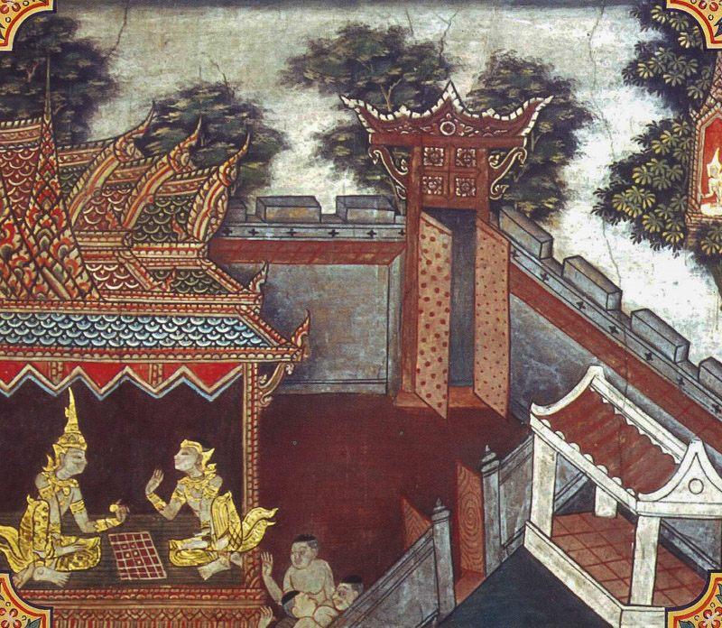 temple painting of Kakati Jataka