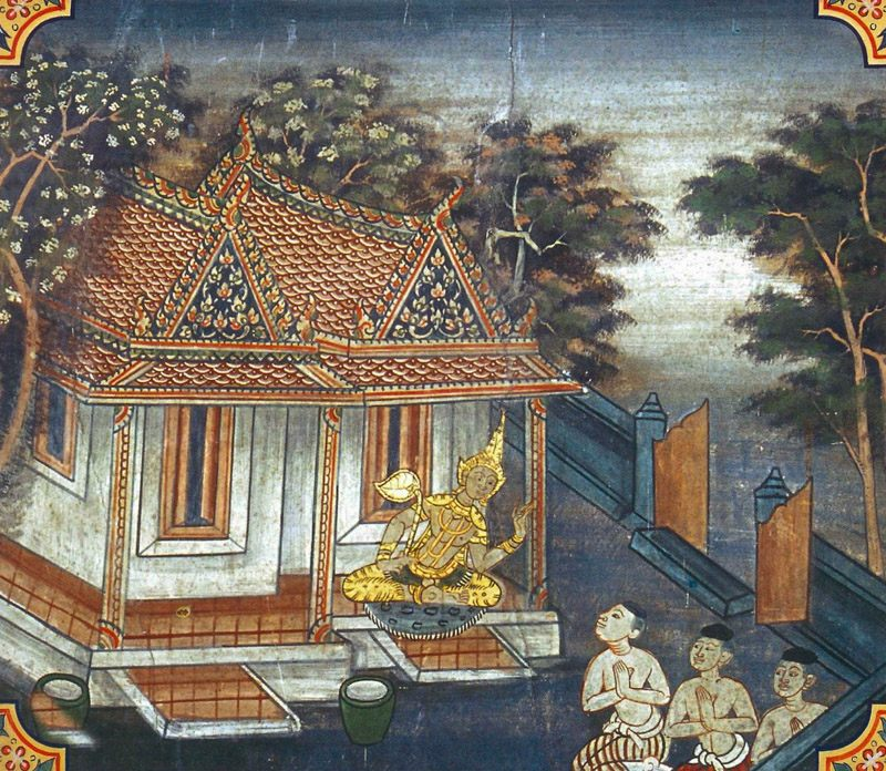 temple painting of Ananusociya Jataka