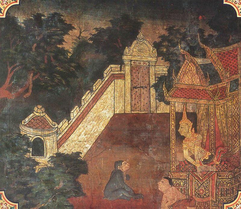 temple painting of Kalabahu Jataka