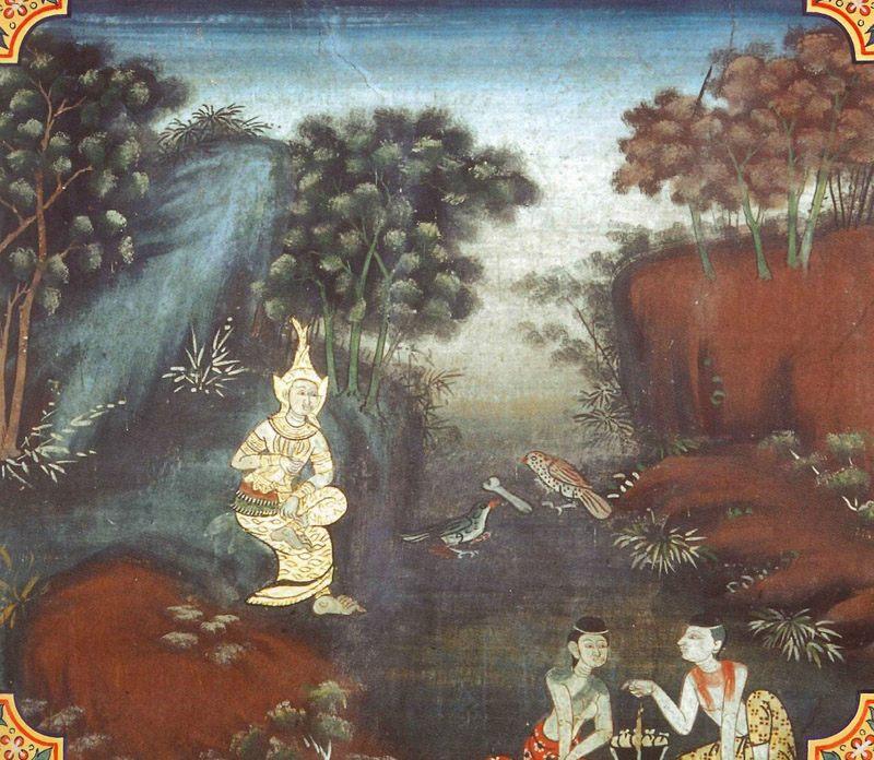 temple painting of Silavimamsa Jataka